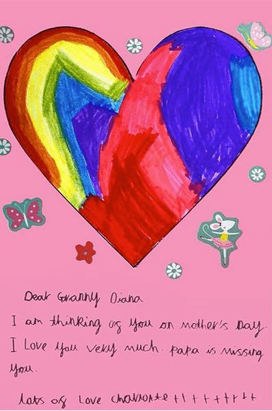 Фото №3 - Дети принца Уильяма и Кейт Миддлтон нарисовали трогательные открытки в память о принцессе Диане