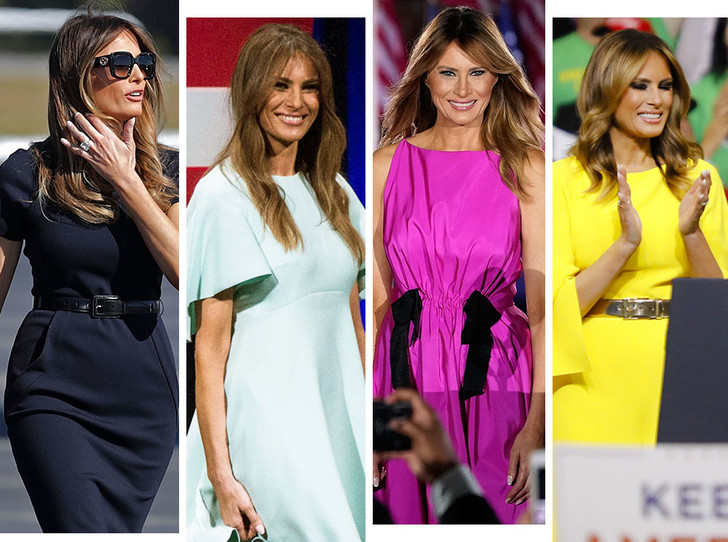 Фото №1 - Большая разница: как менялся стиль Мелании Трамп во время президентских кампаний мужа