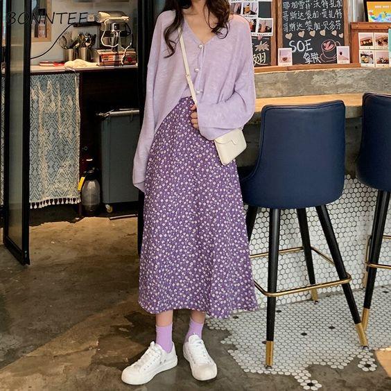 Фото №4 - Длинная юбка в стиле коттеджкор: смотри, с чем носить этим летом
