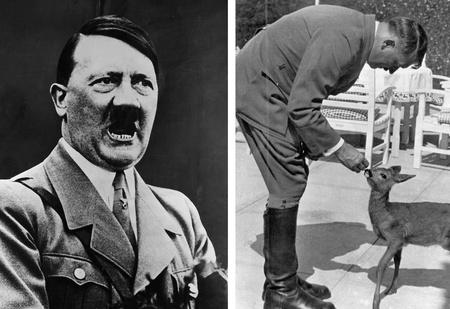 Гитлер с оленятами и еще девять невероятно милых фотографий ужасных людей