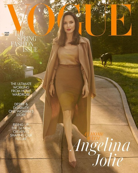 Angelina Jolie on the cover of Voque photoshoot for