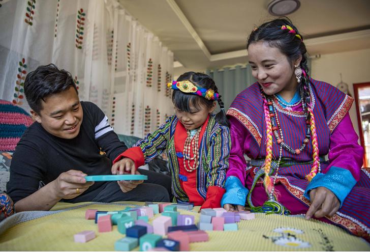 воспитание детей на Тибете