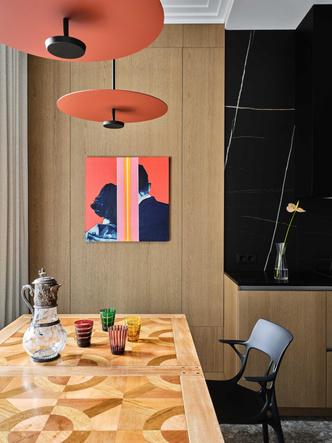 Фото №4 - «Манхэттенская» квартира с винтажной мебелью 136 м²