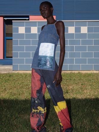 Фото №2 - Кроп-топы и сарафаны из денима: 9 джинсовых вещей Sportmax для нового сезона