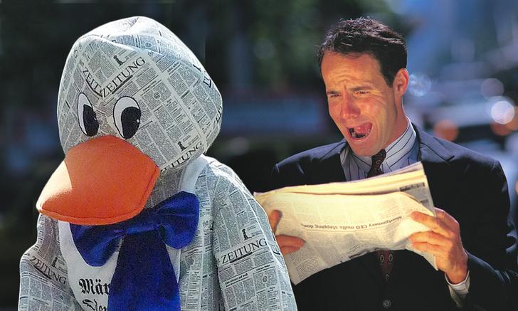 Фото №1 - Почему мы так говорим: «газетная утка»
