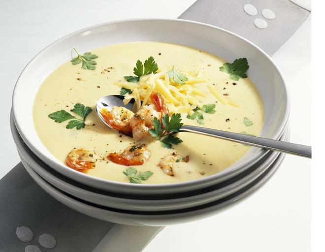 Сырный суп с грибами и креветками рецепты
