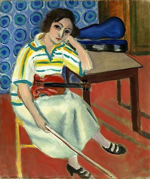 Картина Анри Матисса «Женщина со скрипкой»