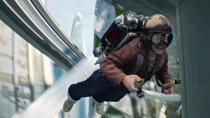 Фото №1 - Как в кино: в Австралии изобрели летающий электрорюкзак