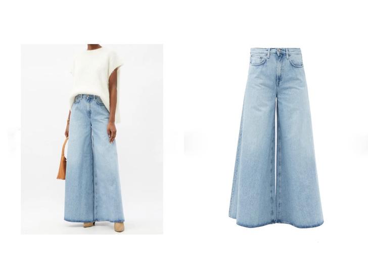 Фото №1 - Голубые джинсы— самая главная покупка лета. Рассказываем, на какие модели обратить внимание