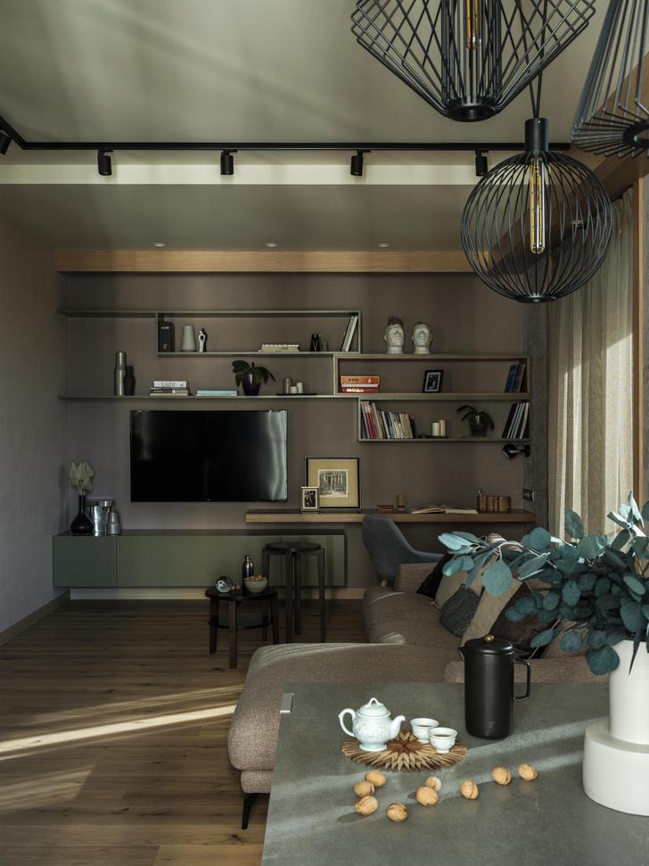 Фото №7 - Как в кино: индустриальный интерьер квартиры 107 м²