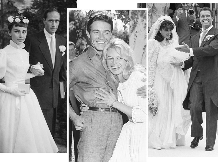 Фото №1 - Как выходили замуж легенды Голливуда: самые красивые ретро-фотографии