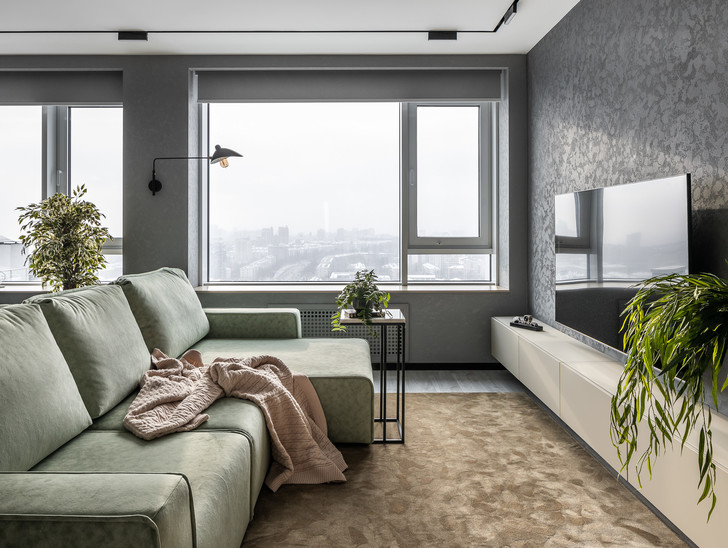 Фото №1 - Графика и минимализм: квартира для студента в Уфе 76 м²