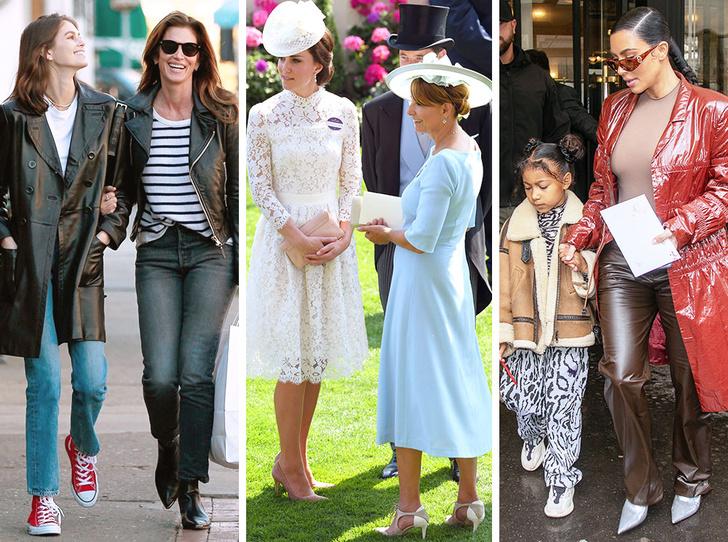 Фото №1 - Стиль по наследству: как одеваются самые модные мамы и дочери