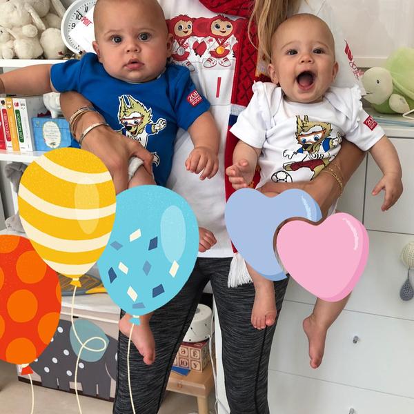 Фото №4 - Курникова показала, как выросли их с Иглесиасом двойняшки