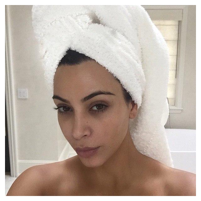 Ким Кардашьян без макияжа: фото