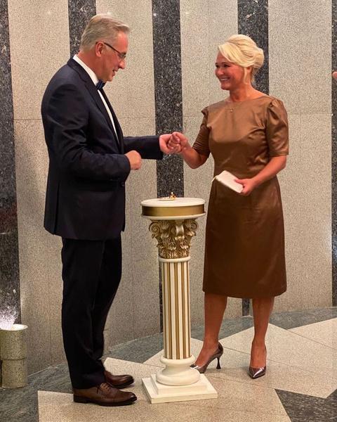Андрей Норкин с супругой