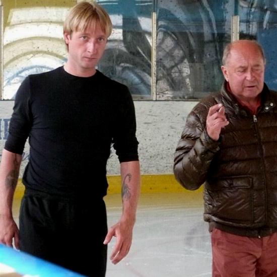 Евгений Плющенко и Алексей Мишин: первая тренировка после операции