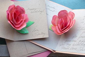 Фото №1 - Открытка-роза: идея для подарка