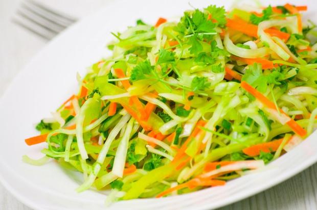 Приготовление салата из зеленой редьки
