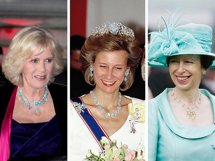 Фото №1 - Как королевские особы носят украшения с бирюзой: самые эффектные выходы