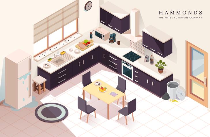 Фото №1 - Найди семь опасностей, которые подстерегают тебя на кухне
