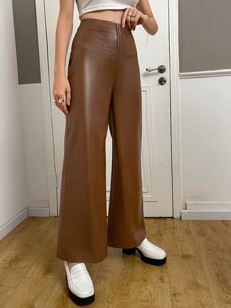 Фото №6 - Где купить цветные кожаные штаны— самый модный хит осени 2021
