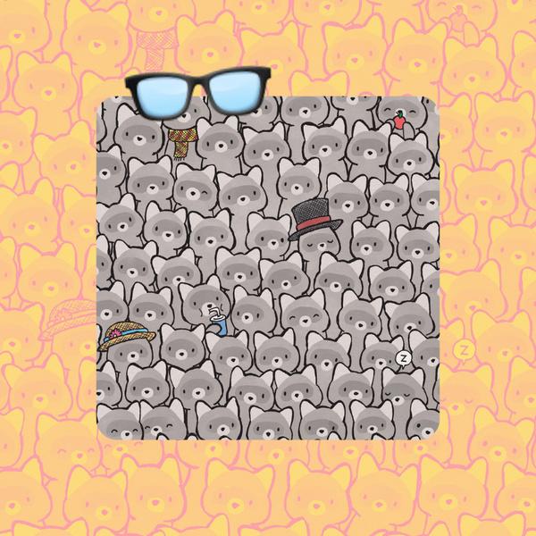 Фото №1 - Тест на глазастость: Сможешь среди кучи енотов разглядеть котика? 🦝