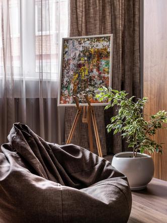 Фото №8 - Серый + горчица: уютная квартира 108 м² в Самаре