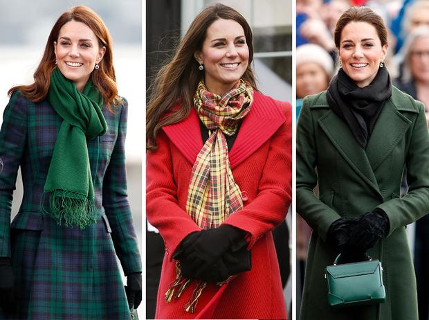Фото №1 - Теплый прием: как герцогиня Кейт носит шарфы