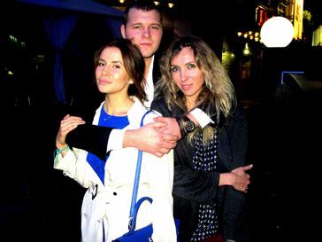 Сергей Бондарчук с любимой мамой Светланой Бондарчук и невестой Татианой Мамиашвили