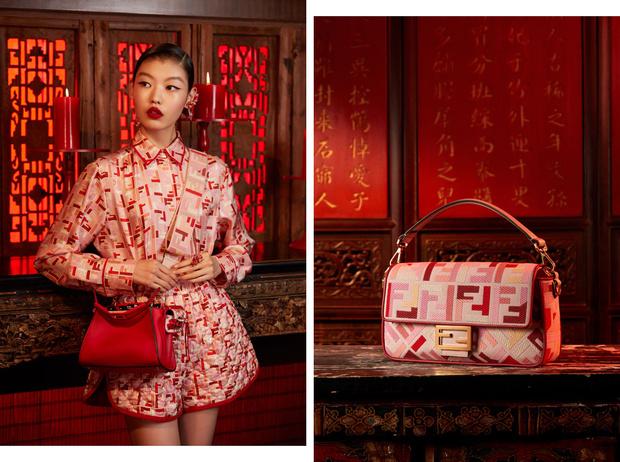 Фото №1 - Драматический красный: бренд Fendi выпустил коллекцию к китайскому Новому году