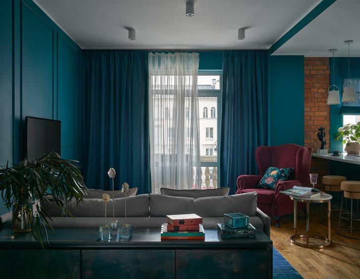 Фото №4 - Синяя квартира 53 м² в Екатеринбурге