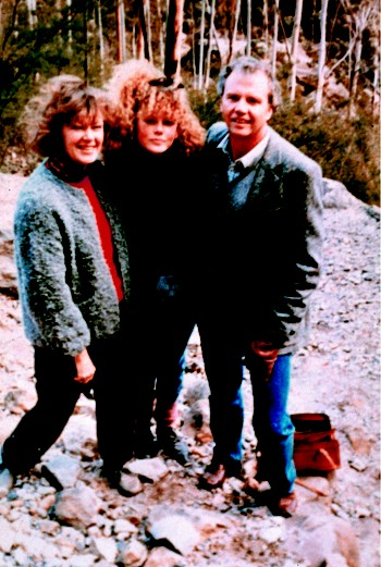 Николь Кидман (Nicole Kidman) с родителями. Фото из семейного альбома