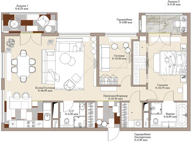 Фото №15 - Сила контраста: строгая мужская квартира 112 м²