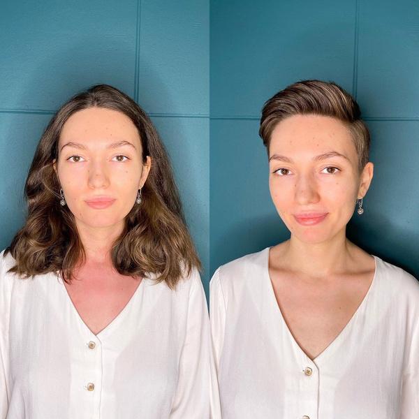 Фото №1 - Дерзко! 30 девушек, решивших очень коротко постричься— фото до и после