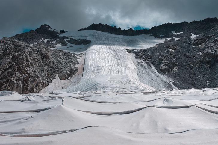 Фото №1 - В Италии ледник накрыли брезентом, чтобы спасти его от таяния