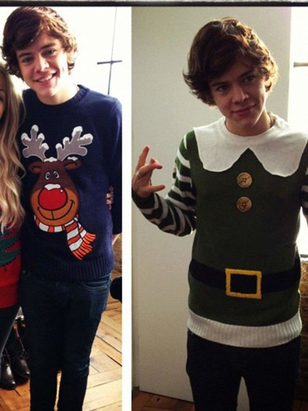 Фото №10 - Ugly Sweater Day: самые угарные фотки звезд в нелепых свитерах