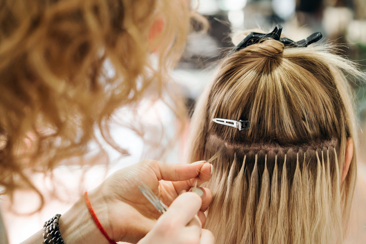 ламинирование волос, наращивание, волосы, процедуры для волос