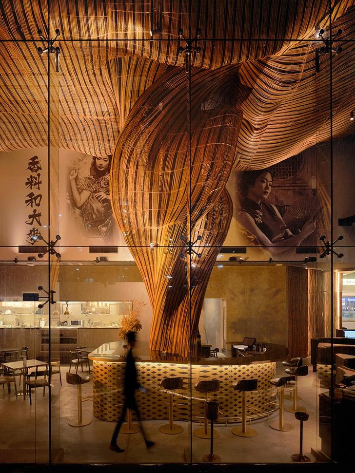 Фото №7 - Инсталляция из ротанга в ресторане Spice & Barley