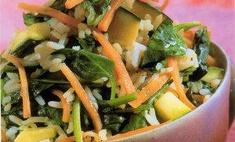 Рис жареный с зеленью