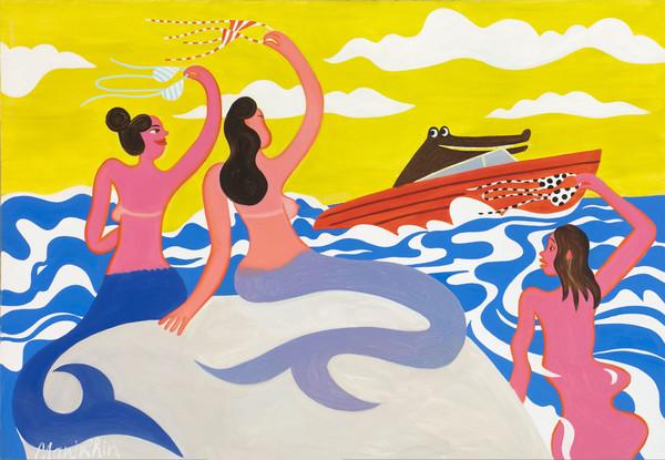 Фото №1 - Солнце, море, беззаботность: почему стоит пойти на выставку Романа Манихина «Курортный Роман»?