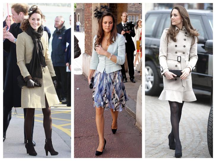Фото №1 - До свадьбы и стилиста: какими были официальные выходы Кейт в статусе подруги принца