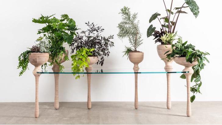 Фото №1 - Стол с кашпо для растений от Heatherwick Studio