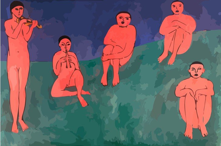Картина Матисса «Музыка»