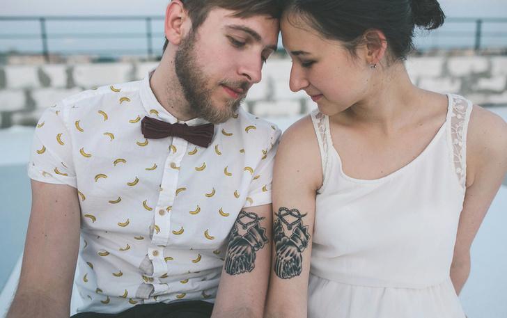 Фото №1 - Любовь под кожей: трогательные идеи парных татуировок