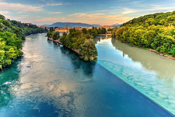 Фото №1 - Цветная вода: 5 красочных мест слияния рек