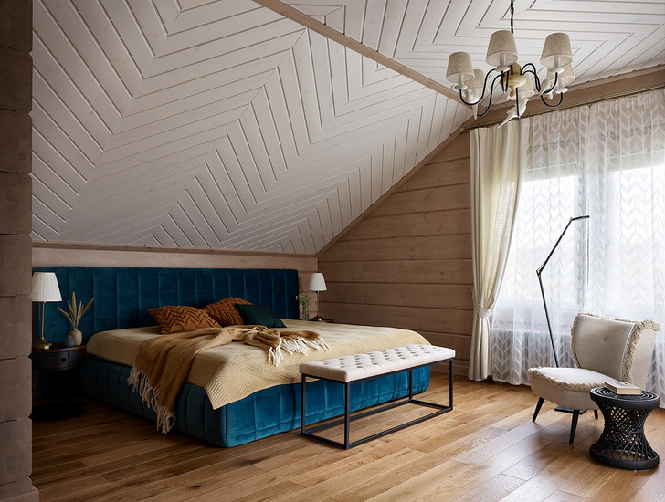 Фото №8 - Деревянный дом в стиле кантри