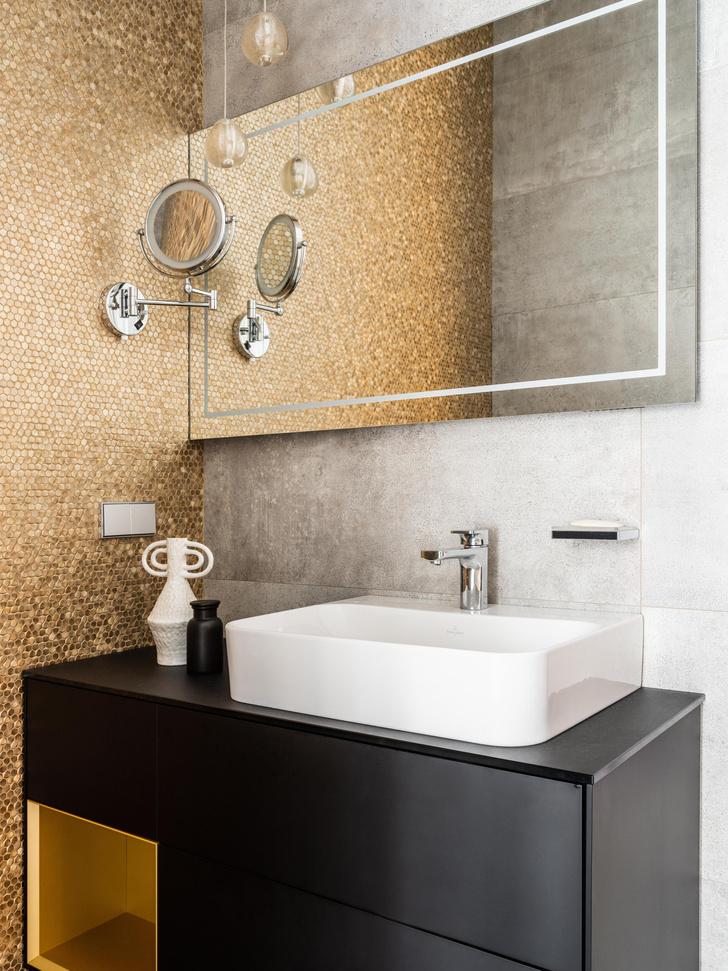 Фото №11 - Квартира в пастельной гамме с золотыми акцентами
