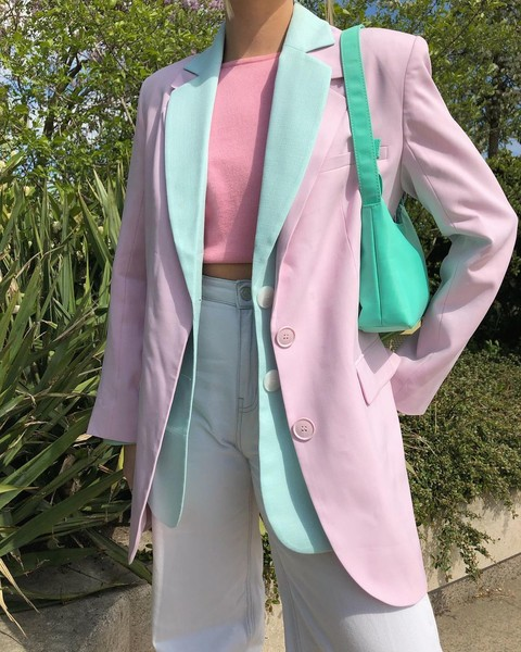 Фото №3 - Как носить color blocking зимой 2021: вдохновляемся луками fashion-инфлюенсеров
