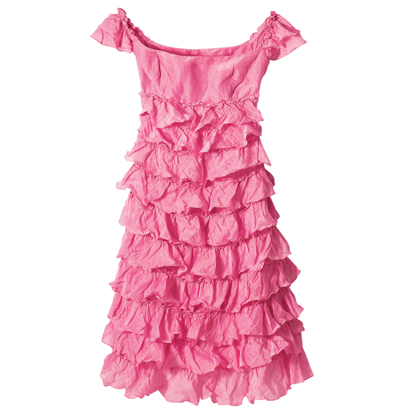 Платье с оборками, Ralph Lauren Black Label
